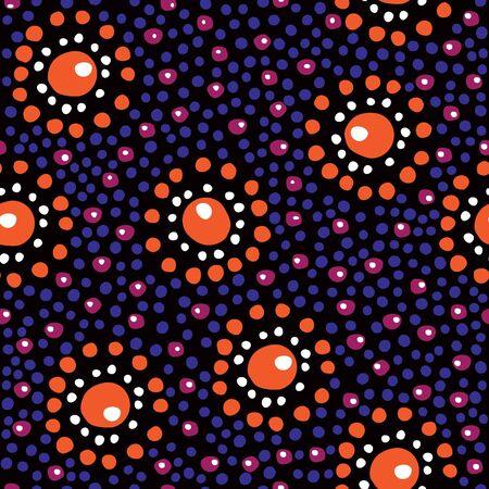 aborigen: Patr�n floral sin fisuras en el estilo aborigen Vectores