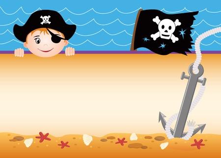 calavera pirata: Tarjeta pirata