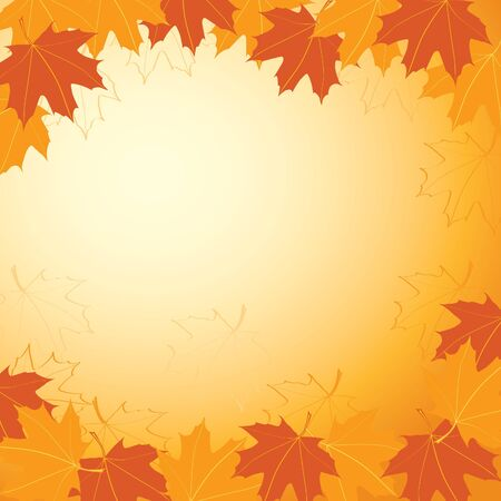 Background with autumn maple leaves; gradient used