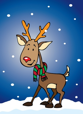 Rudolf the reindeer for your Xmas designs Stock Vector - 10537252