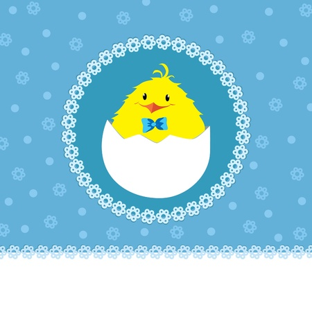 A greeting card template for a baby boy Vector