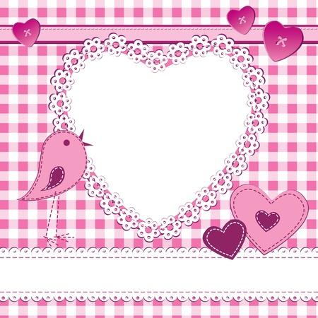 wedding photo frame: Un biglietto di auguri in stile album con cornice. Perfetto per una bambina, giorno di San Valentino o un matrimonio temi