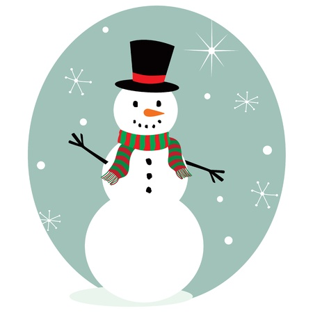 Cute snowman Stock Vector - 11487664