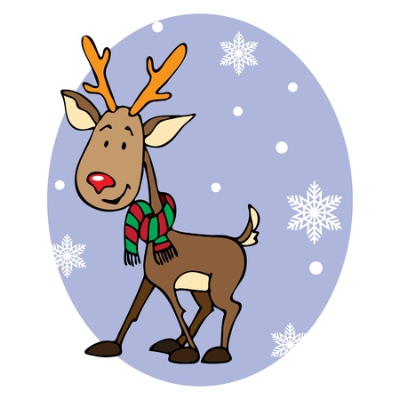 Cute reindeer Vector