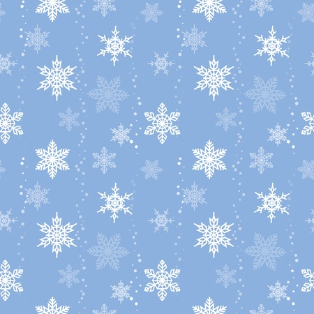 Snowflakes seamless pattern (swatch included) Vector