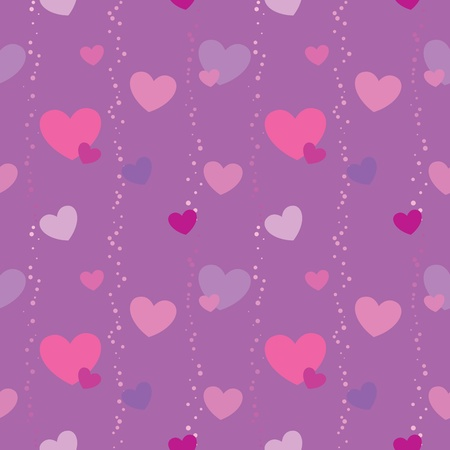 Seamless pattern with hearts for Valentine Vector