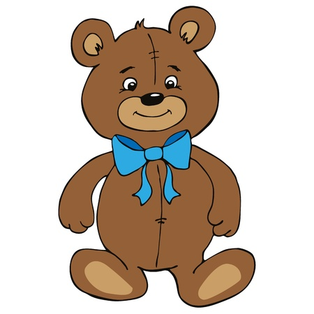 Cute teddy bear boy with bow