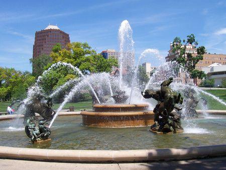A fountain in Kansas City, Missouri