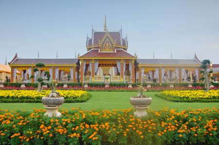 The beautiful meru in royal cremation ceremony at Sa Nam Luang, Bangkok, Thailand Stock Photo - 13604272
