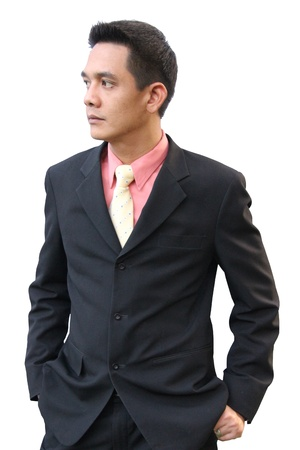 Asian businessman in a suit.