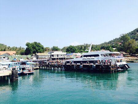tranfer: Ferry boat tranfer tourist to Ko Tao island, Thailand.