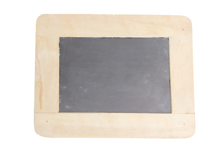Antique chalkboard with wooden frame,isolated Stock Photo