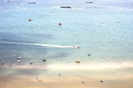 long weekend: PATTAYA CITY  AUGUST 1 : Boat in the sea and all tourist activity on long weekend  on August 1, 2015 at Pattaya city, Chonburi, Thailand Editorial