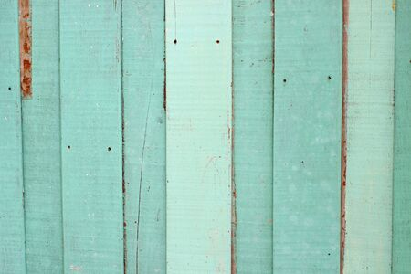 Vintage green wood wall Stock Photo