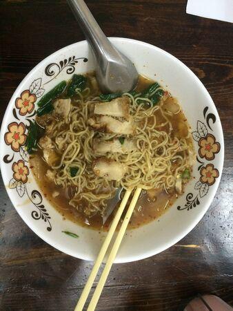 style: Egg noodle thai style