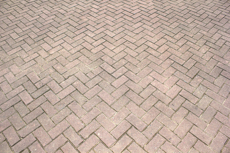 Patterned brick walkway pristine countryside