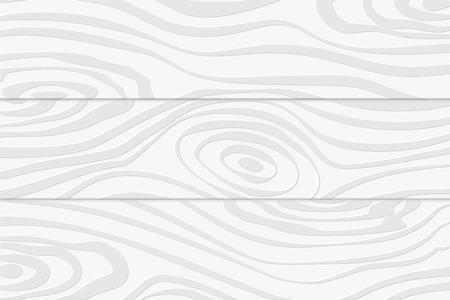 Illustrazione creativa in legno bianco modello texture di sfondo decorativo. Illustrazione vettoriale Eps 10.