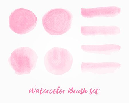 Watercolor stain for make a brush set on white background. Vector illustration.