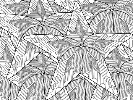 adults: Starfish coloring book for adults vector illustration.