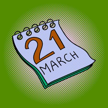 Calendar pop art design vector illustration. Book separate objects. Almanac hand drawn doodle design elements.