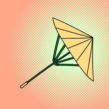 pop culture: Bamboo umbrella pop art vector. Beautiful style for comics. Hand drawn