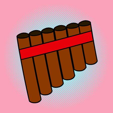 Jeringa ilustración del arte pop. estilo cómico hermoso. Dibujados a mano de instrumentos musicales.
