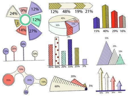demografia: Gran conjunto de elementos infográficos. EPS10. Modelo del vector informe de gráficos a partir de las líneas y los iconos Vectores