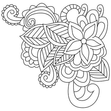 Mandala Para Colorear Flor Para Adultos Ilustración Vectorial ...