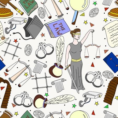 Colección O Conjunto De Iconos De Derecho Y De Justicia Firmar ...