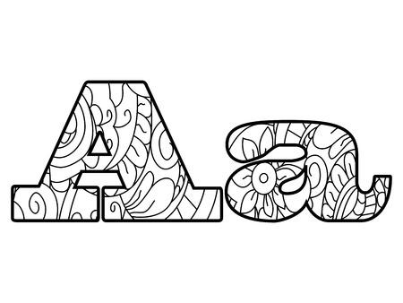 Anti Colorante Libro Alfabeto, La Letra B Ilustración Vectorial ...