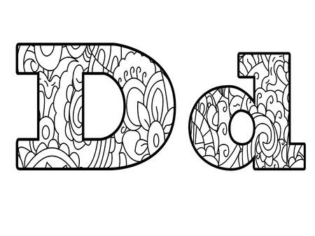 Anti-Färbung Buch Alphabet, Die Buchstaben Z Vektor-Illustration ...