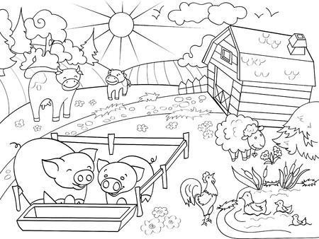 La Ubicación De La Agricultura Hangar Para Comida Para Animales