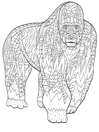 987 silverback gorilla stock vector illustration and royalty free ... - Silverback Gorilla Coloring Pages