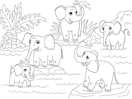 Libro Para Colorear Para Niños, Juego De La Educación: El Elefante ...