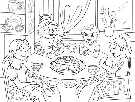 Mamá De Pollo En La Cocina Prepara Comida Para La Familia De ...