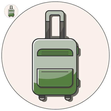 piece of luggage: travel bag vector icon