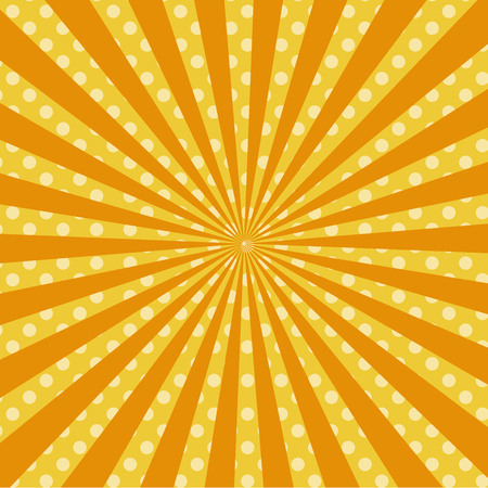 Warm orange pop art retro comic background raster