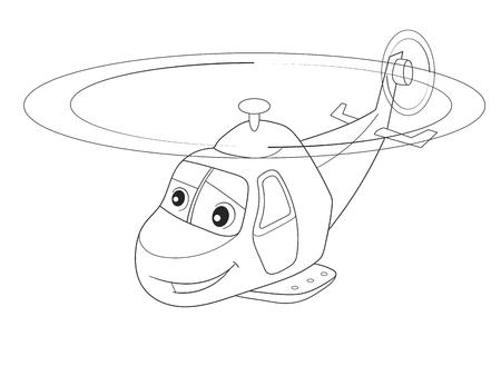 Dibujos Animados Para Colorear Helicópteros Y Aviones Con