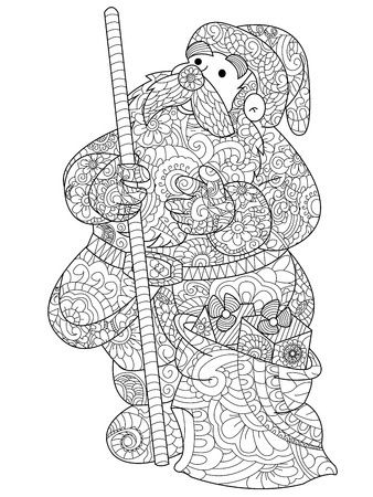 Santa Claus coloring raster for adults