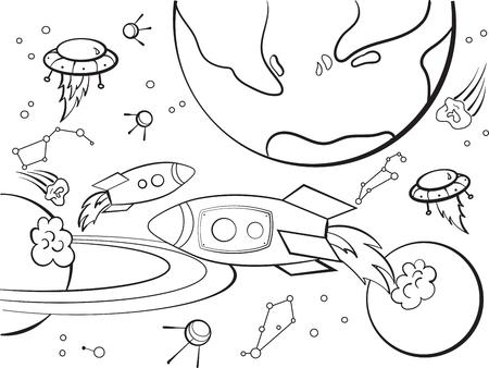 Conjunto De Banners Horizontales Con Planetas Alienígenas De ...