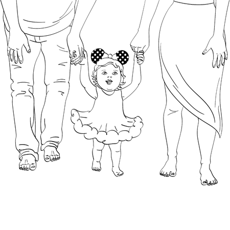 The first walk of the child image