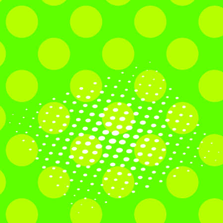 Pop art vector. Background of a color green and white dots