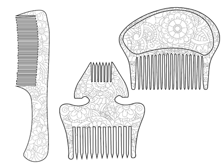 Set of combs vector illustration