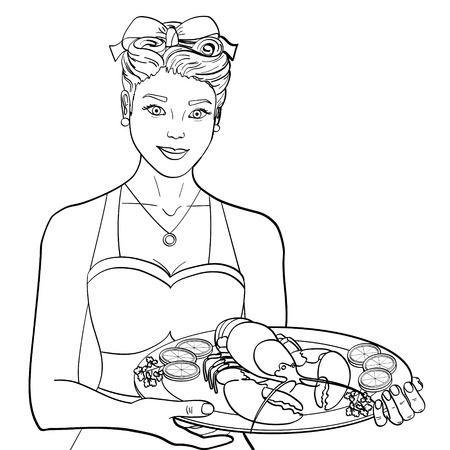 The hostess Stock Illustratie