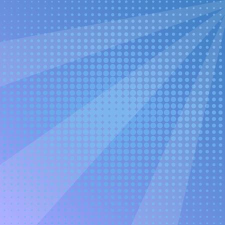 Pop art background, blue sun rays. Vector illustration