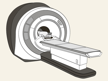 scanner computerized tomography scanner , magnetic resonance imaging machine, medical equipment. Object Shades of gray