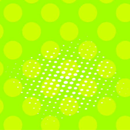 Pop art raster. Background of a color green and white dots Stock Photo