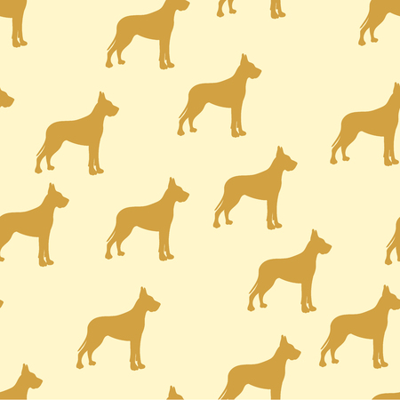 seamless background, kids dog, german dog. Raster of yellow, retro, vintage Stock Photo