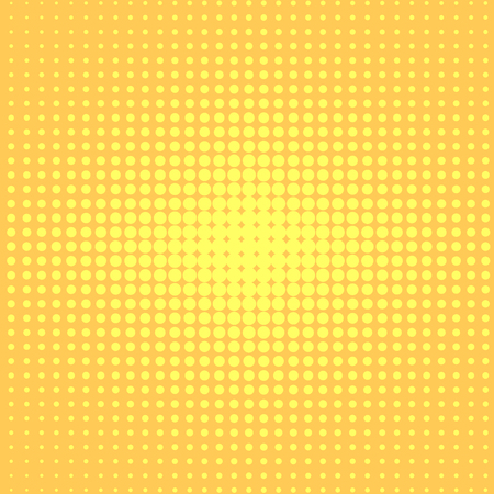 Pop art background to the point. Go from yellow to orange, the effect of the sun.