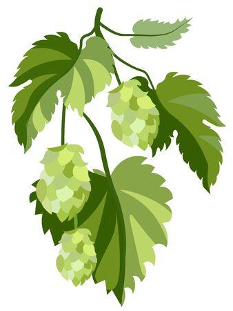 Plant hop. In minimalist style. Flat isometric raster Imagens